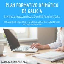 Convocadas as actividades do Plan formativo ofimático de Galicia para 2018